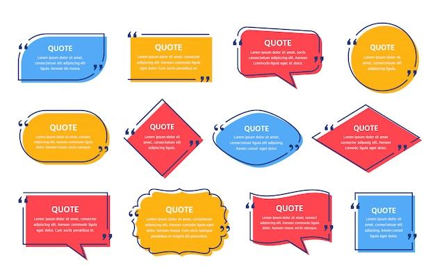 Набор рамок для цитат
