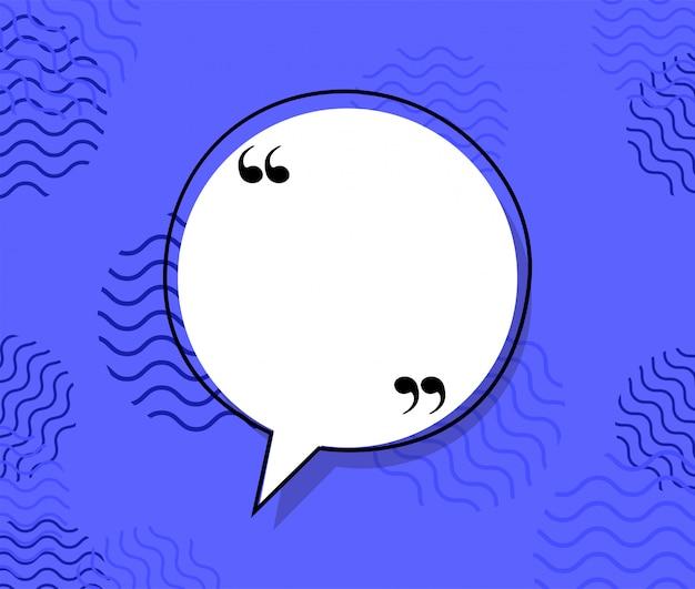 Quote communication bubble