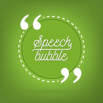 Quote, empty speech bubble, banner.
