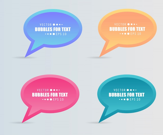Quote, empty speech bubble for text. set