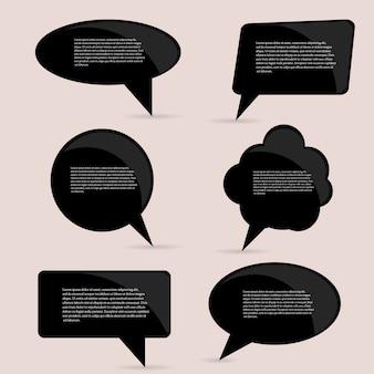 Quote, empty speech bubble