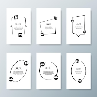 견적 프레임. 인쇄 정보 디자인 따옴표가있는 빈 템플릿.