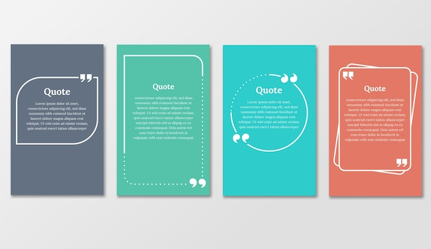 Quote frames blank templates set