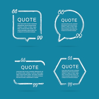 Quote frames templates. brush paint stroke of frame.