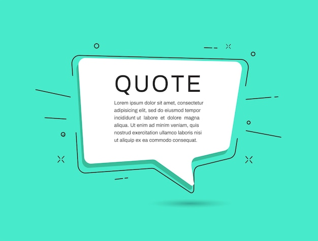 Quote frames templates on green background