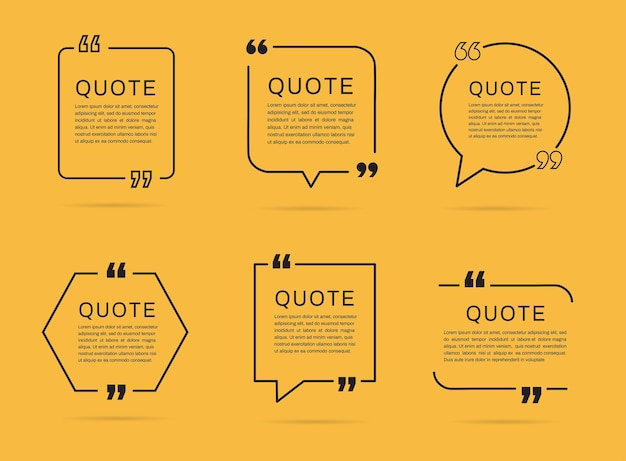 Quote frames templates. quote box.