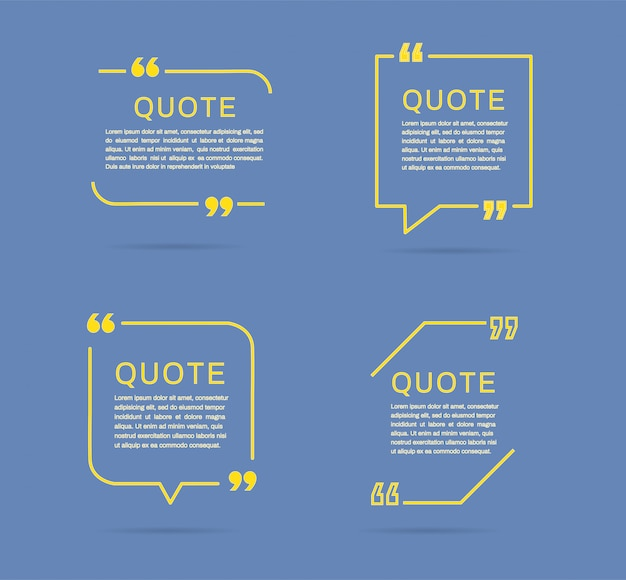 Quote frames templates.