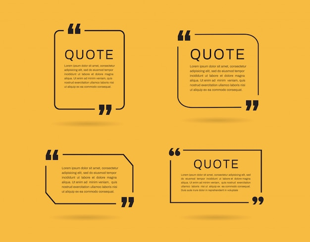 Quote frames templates