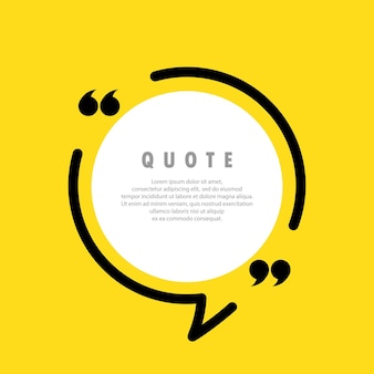 Quote icon. quotemark outline, speech marks, inverted commas, blank space. blank for your text. vector eps 10. isolated on background.