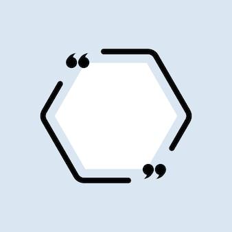 Значок цитаты. наброски quotemark, речевые знаки, кавычки или набор говорящих знаков. рамка
