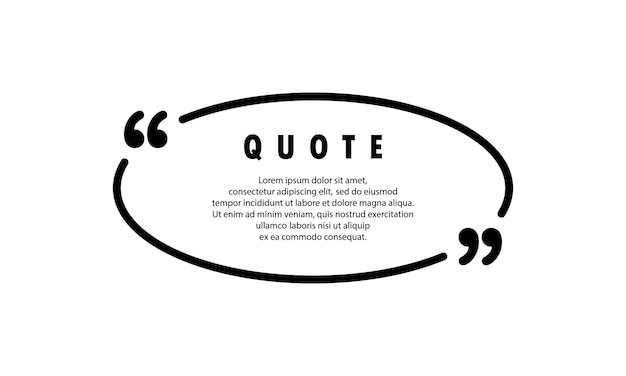 Quote icon. quotemark outline, speech marks, inverted commas or talking mark collection. blank for your text. circle shape. vector eps 10. isolated on background.