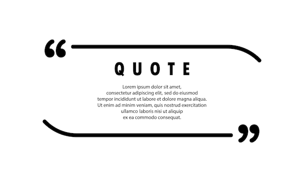 Quote icon. speech bubble, inverted commas or talking mark collection with empty space. blank for your text. frame. vector eps 10. isolated on background.