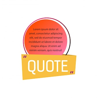 Quote lettering and template text in circle.