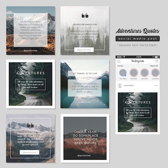 Quote motivation social media post template