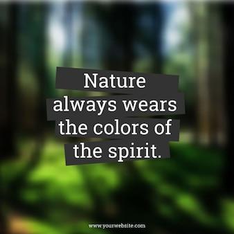 Цитата на размытом фоне леса