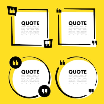 Quote speech bubble template set