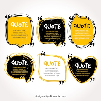 Quote template collection