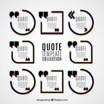 Quote templates in modern style