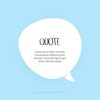 Quotes frames. quote remark, mention quotations frame and callout text template. talk remark quotation frames, citation memo or dialog box bubble. isolated vector symbols set