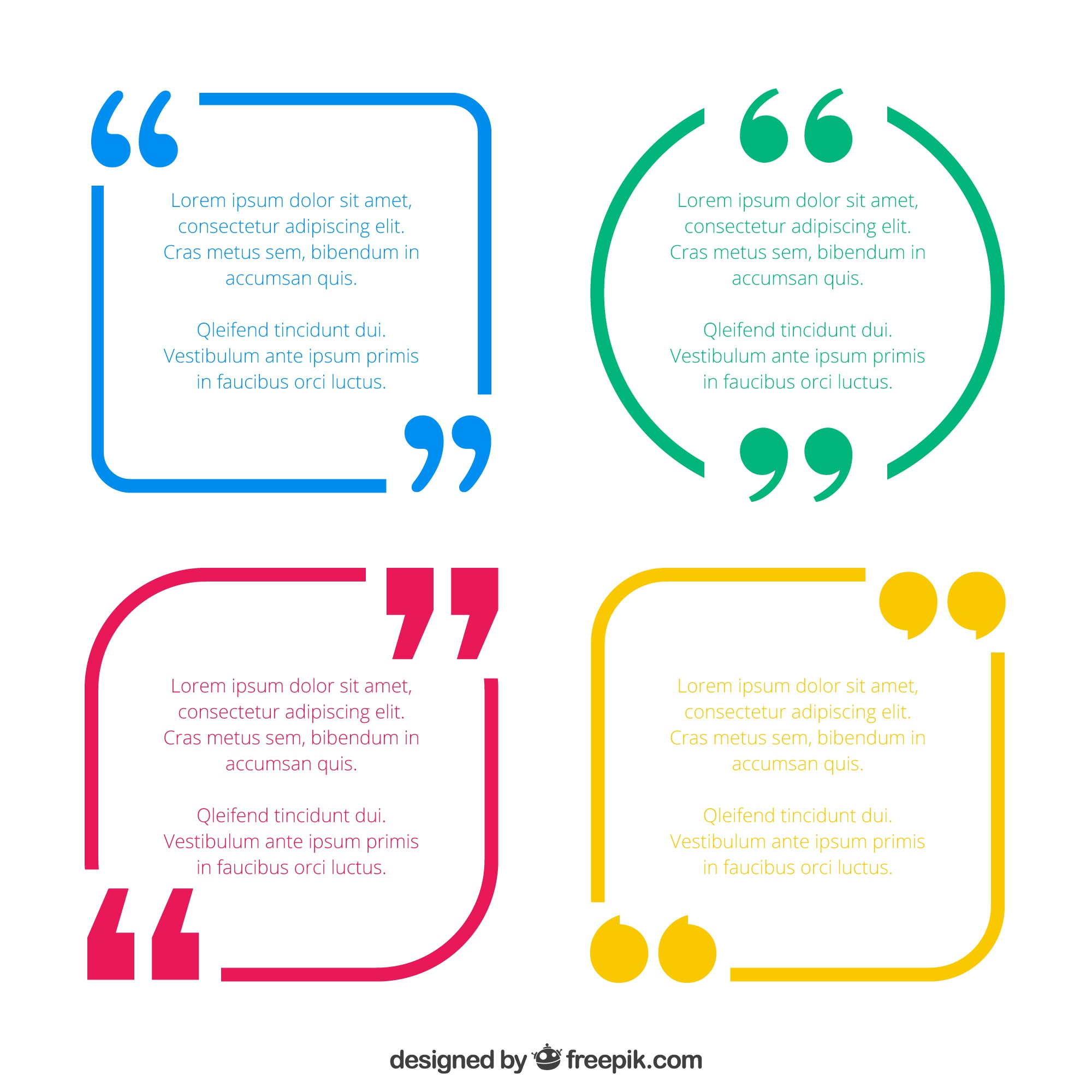 Quotes template pack
