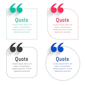 Quotes template set in dots line style