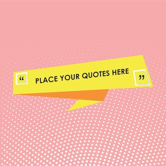 Quotes text template with yellow frame