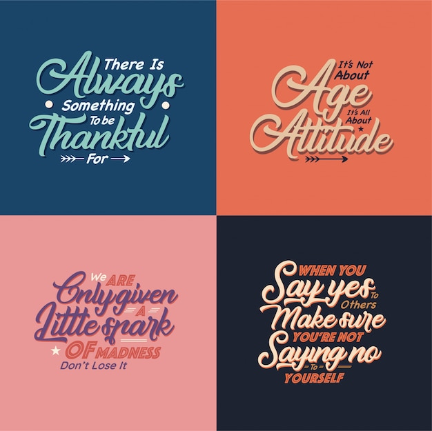 Quotes typography illustration