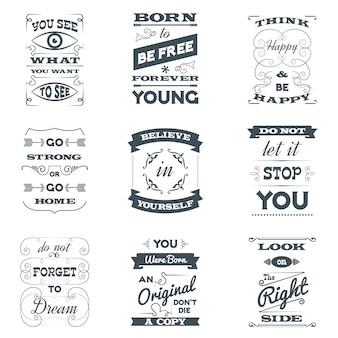 Quotes typography set