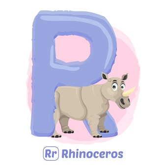 R для носорога.