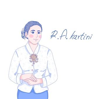 R.a.kartini illustration