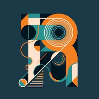 R letter design