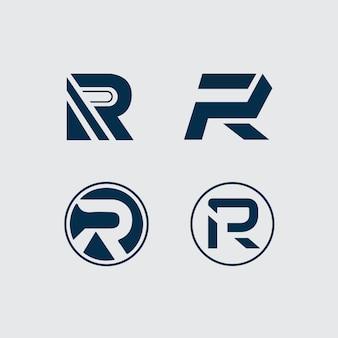 R letter logo 4 type