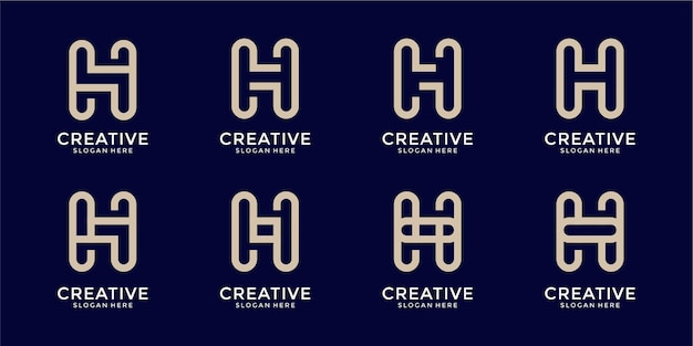 R letter logo collection monogram style
