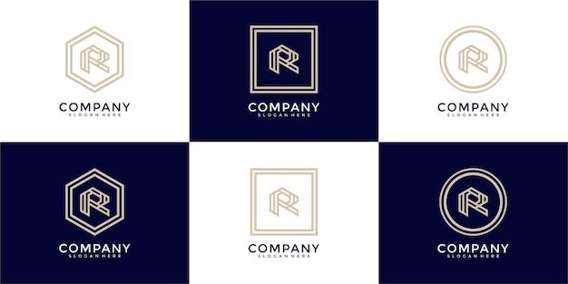 R letter logo collection monogram