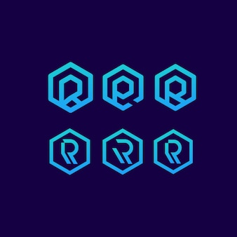 R буква логотип