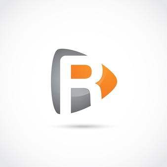 Абстрактное письмо r logo design