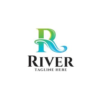 Абстрактная красочная буква r logo