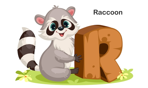 R for raccoon