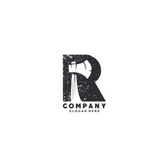 手紙rのロゴのテンプレート