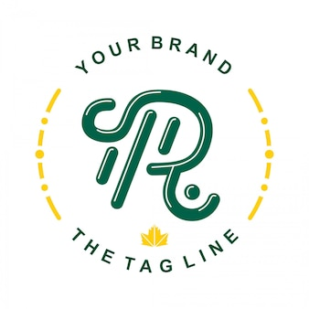 Первоначальный шаблон логотипа r