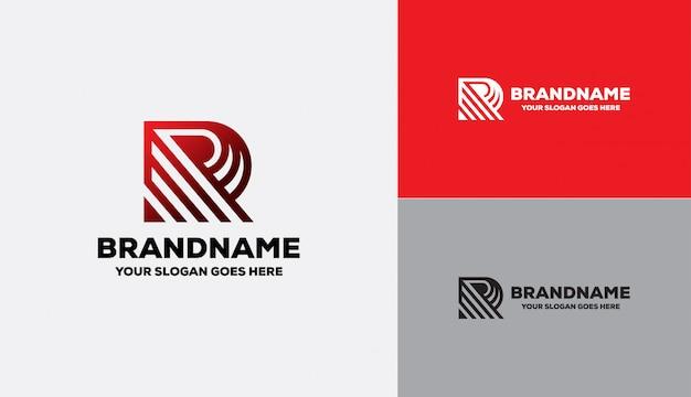 Буква r логотип геометрической формы