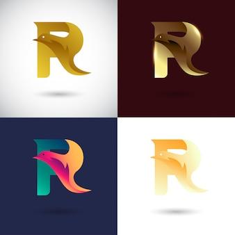 Креативный дизайн логотипа буква r