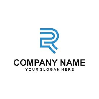 文字rのロゴのベクトル