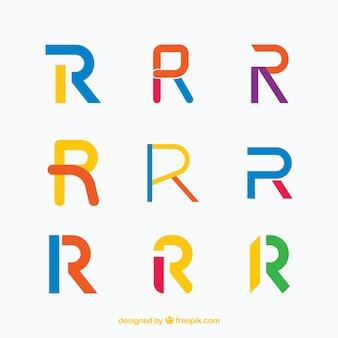 Современные «r» буквенные логотипы