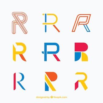 Коллекция логотипа «r»