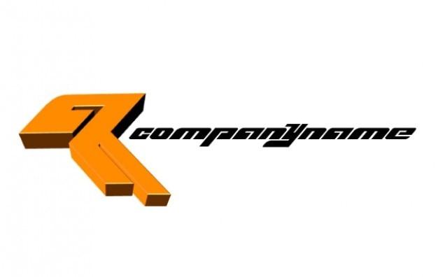 Логотип абстрактная r название компании