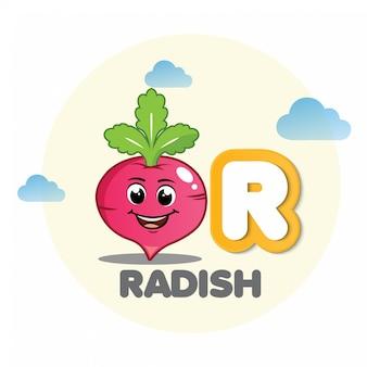 ラディッシュ・マスコット、手紙r