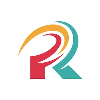 Письмо r начальный логотип