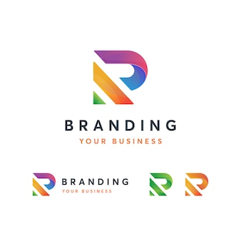 Шаблон логотипа r