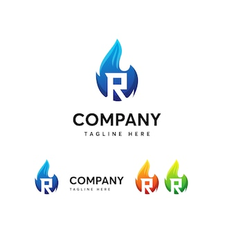 Rの文字ロゴのテンプレート